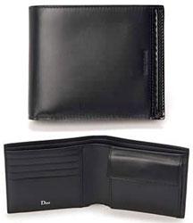 ディオール DIOR HOMME ディオールオム 小銭入れ付き二つ折り財布メンズロゴ型押し ブラック2つ折り財布さいふ サイフ 財布VEVC2702 N0