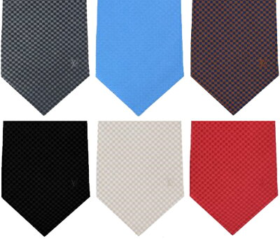 LOUIS VUITTON ルイヴィトン ネクタイブラウン ブラック ライトベージュ グレー レッド ライトブルークラヴァットマイクロダミエルイヴィトン メンズ ルイビトン LVロゴオレンジ クリームイエローカジュアルジャケットやフォーマルスーツに似合う