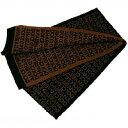 ドルガバ マフラー(レディース) D&G DOLCE&GABBANA ドルガバマフラー ブラック×ブラウン N20210-N0000ドルチェ&ガッバーナ ドルチェアンドガッバーナダークグレー×ブラウン