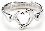 ティファニー オープンハート 指輪(レディース) Tiffany&Co. ティファニー 指輪オープンハートリング ミニシルバースターリング シルバーアクセサリーOPEN HEART RING MINI4.5(約8号) 5.5(約10号) 6.0(約11号)