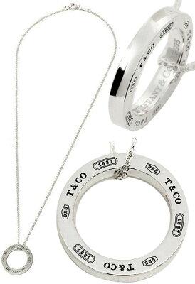 Tiffany&Co. ティファニーリングトップペンダントネックレス1837サークル ミディアム シルバーチェーンリングプレート アクセサリースタ—リングシルバー925CIRCLE RING PENDANT NECKLACE