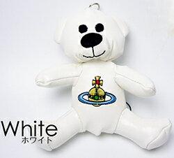 ヴィヴィアンウエストウッド Vivienne Westwoodヴィヴィアンウエストウッド 携帯ストラップ 熊スマートフォン&スマホ用キーホルダーテディーベアー チャームオーブロゴ刺繍 テディーベア クマさんぬいぐるみチャームTEDDY WHITE ORBGADGET ORSETTOECOPELLE