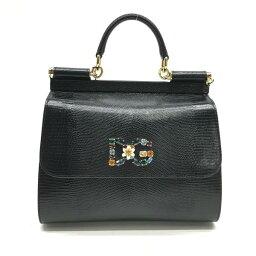 ハンドバッグ 未使用 D&G ドルチェ&ガッバーナ ドルガバ シシリー ミディアム ハンド ショルダーバッグ 黒 ブラック 管理RY19000089