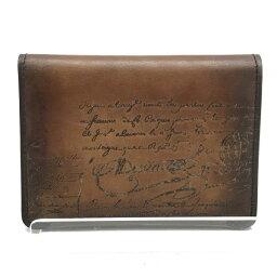 ベルルッティ Berluti ベルルッティ カリグラフィ カードケース 名刺入れ パスケース 定期入れ ブラウン 茶色 メンズ ブランド 管理RY19001726