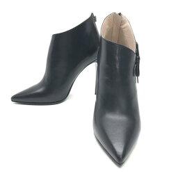 ミュウミュウ 未使用 miumiu ミュウミュウ アンクルブーツ サイズ37(約23.55cm) 5T9355 ナッパ レザー ピンヒール 靴 くつ レディース ブランド 箱付き 管理RY19002784