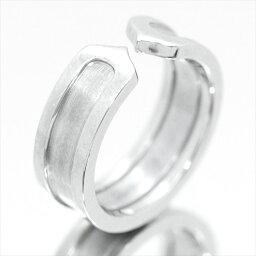 カルティエ 指輪 【新古品】カルティエ/Cartier / ジュエリー 指輪 レディース ホワイトゴールド / 2C ロゴリング K18WG B4040500