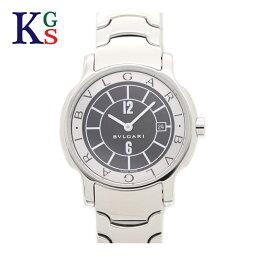 ソロテンポ 【ギフト品質】ブルガリ/BVLGARI レディース 腕時計 ソロテンポ 黒文字盤 ホワイトインデックス ステンレススチール クオーツ ST29S
