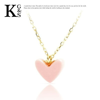 【新古品】【母の日 プレゼント】AHKAH / アーカー レディース ティラン ハート ネックレス K18YG×ピンク サンゴ