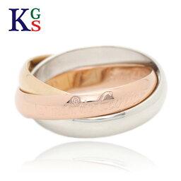 カルティエ 指輪 【新古品】カルティエ/Cartier / ジュエリー リング 指輪 レディース メンズ / トリニティリング SM 3カラー ゴールド YG/WG/PG 750/K18 3連 B4086100