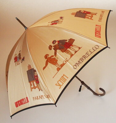 【NEW】戯れ〜Tawamure(長傘)色:ベージュモンブランヤマグチ ほぐし織り 婦人雨傘軽量カーボン骨バージョン(約360g)