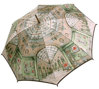 ◆シャンデリア (長傘) グリーンモンブランヤマグチ ほぐし織り 婦人雨傘