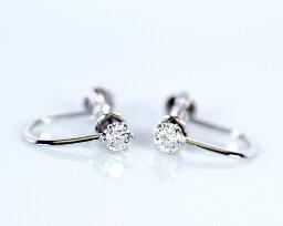 ダイヤモンド K18WG 0.2ct ダイヤモンドイヤリング (175931)