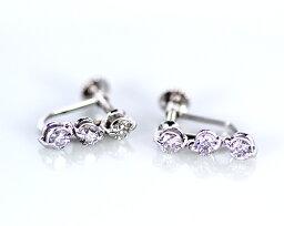 ダイヤモンド Sil 0.5ct ダイヤモンド3ストーンイヤリング