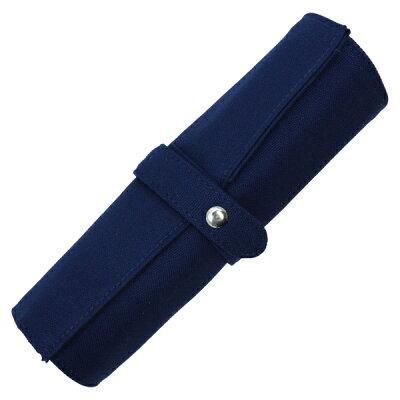 【DELFONICS/デルフォニックス】ロールペンケース 帆布 【ダークブルー】 500131-408 【あす楽対応】