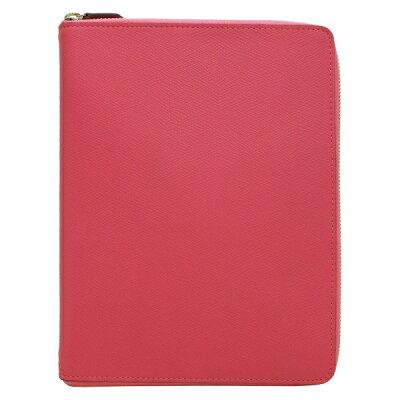 【Ashford/アシュフォード】A5サイズ 6穴 ビバーチェジッパー リング径15mm【ピンク × トープ】システム手帳 3079-461 【あす楽対応】