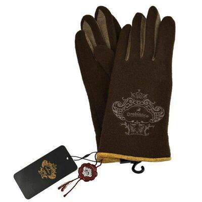 オロビアンコ OROBIANCO レディース手袋 ORL-1570 glove タッチパネル対応 D.BROWN サイズ:フリーサイズ ダークブラウン スマホ対応 スマートフォン対応 茶色 [ギフト プレゼント ラッピング無料 お祝い クリスマス]