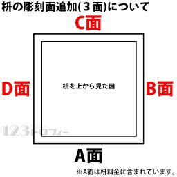 枡 一合枡 彫刻面追加(3面)セルフデザインコース用