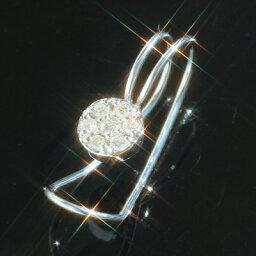 イヤーカフ 【あす楽対応】ダイヤモンド K14 ホワイトゴールド イヤーカフ・ディーチュアナ イヤークリップ イヤーカフス パヴェ 大人かわいい シンプル 結婚式 イヤリング レディース 14金 14K 華奢 シンプル ※こちらは【片耳販売】です。 母の日 ギフト
