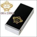 オロビアンコ 携帯灰皿 Orobianco オロビアンコ灰皿 ORA-23BKG スプリング式携帯灰皿 ブラック/ゴールドロゴ