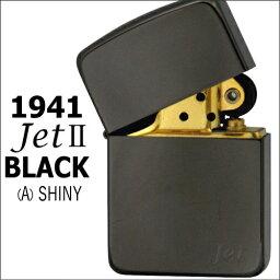 チタン・Zippo ZIPPO ジッポー 1941 JET 2(A)1941レプリカジェットブラックチタンコーティング シャイニー 深みのある濃い黒 シンプル ZIPPOライター