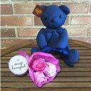 テディベア バスペタル ローズブーケ& テディベア デニム 入浴剤 ギフト おしゃれ プレゼント クマ お花 花束 お風呂 薔薇 枯れない 卒業祝い 入学祝 父の日