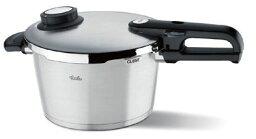 圧力鍋 送料無料 フィスラー プレミアム圧力鍋 3.5L 蒸し器・三脚・料理ブック付 622-301-03