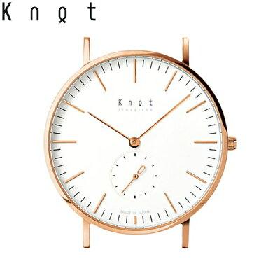 """【ギフト包装無料】Knot(ノット)""""クラシック スモールセコンド""""ローズゴールド & ホワイト時計本体のみ(ベルト別売り)腕時計/メンズ/レディース/サファイアガラス/日本製/MADE IN JAPAN/【ギフト】"""
