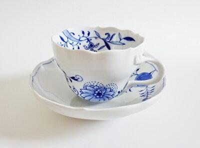 マイセン ブルーオニオン・スタイル 兼用コーヒーカップ&ソーサー