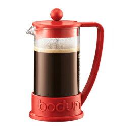 フレンチプレス 【お試し コーヒー豆付】ボダムフレンチプレス ブラジルシリーズ レッド RD 350ml 1-2人用 初心者におすすめコーヒーメーカー プレス式 コーヒー器具 Bodum 10948-294【コンビニ受取対応商品】