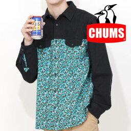 チャムス チャムス シャツ メンズ/男性用 CH02-1019(Z018Camo)ドットカモネルシャツ Dot Camo Nel Shirt 長袖シャツ
