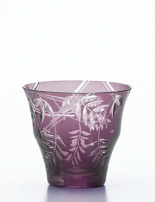 東洋佐々木ガラス【キリコ オンザロック(かすが藤) 300ml HG101-18PL】マイグラス ロックグラス グラス タンブラー オールドファッション 焼酎グラス 紫色 ご贈答 ギフト プレゼント 父の日