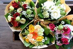 ミニ花束 【シーズンフラワー】Leaveおまかせ季節の花を使ったミニブーケ風の花束です。
