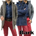 バーク 【送料無料】 BARK Bark バーク   メンズ ダッフル ダッフルコート ニット ブルゾン ニットダッフル  ネイビー(紺)/ブラウン(茶)/グレー ミックス SIZE:S/M/L (bark_m1751203) 【smtb-k】【kb】