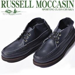ラッセルモカシン 【シューズ全品 送料無料】 ラッセルモカシン RUSSELL MOCCASIN スポーティング クレー チャッカ ネイビー レザー(RUSSELL MOCCASIN 200-27W SPORTING CLAYS CHUKKA) メンズ(男性用) シューズ 靴