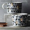 【再入荷予定なし】ANTHROPOLOGIE アンソロポロジー イニシャルマグカップ Optimist Monogram Mug