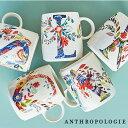 ANTHROPOLOGIE アンソロポロジー イニシャルマグ マグカップ Petal Palette Monogram Mug アルファベット