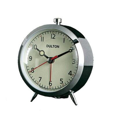 ダルトン アラームクロック クローム 目覚まし時計 置時計 置き時計 おしゃれ シンプル 【 DULTON ALARM CLOCK CHROME 100-053Q/CR 】