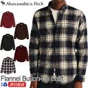 アバクロンビー&フィッチ正規品 アバクロ Abercrombie&Fitch 2021新作 メンズ ネルシャツ ボタンダウンシャツ チェック柄シャツ Flannel Button-Up Shirt 5色 レッドプラッド他