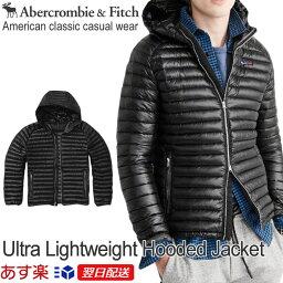 アバクロンビー&フィッチ 【お買得!バーゲン中!】アバクロンビー&フィッチ 正規品 アバクロ Abercrombie&Fitch メンズ ダウンジャケット アウター:Ultra Lightweight Hooded Puffer Jacket - Black《送料無料》