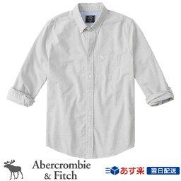 アバクロンビー&フィッチ アバクロンビー&フィッチ 正規品 アバクロ Abercrombie&Fitch メンズ 2020新作 オックスフォードシャツ ボタンダウンシャツ Icon Oxford Shirt グレー Light Grey