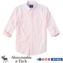 アバクロンビー&フィッチ アバクロンビー&フィッチ 正規品 アバクロ Abercrombie&Fitch メンズ 2020新作 オックスフォードシャツ ボタンダウンシャツ Icon Oxford Shirt ピンク Light Pink
