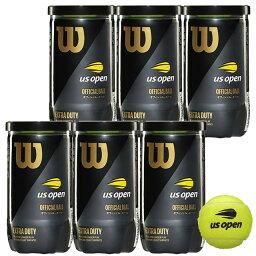 ボール 【4500円均一】Wilson(ウイルソン)US オープン・エクストラ・デューティ テニス ボール1缶2球入×6缶WRT1000J-6SET【定番】
