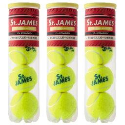 ボール 【4個入り3缶】DUNLOP(ダンロップ)St.JAMES(セント ジェームス)テニスボール DSTJAMESA◎●●