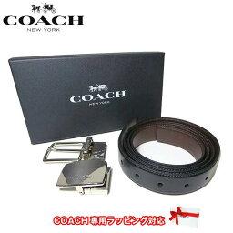 コーチ ●ギフトBOX付!!● コーチ アウトレット COACH アパレル メンズ F65185 レザー ベルト ギフトセット AQ0(ブラック×ダークブラウン)【RCP】【楽天カード分割】【メンズ】