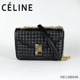 セリーヌ ポシェット CELINE セリーヌ THE C MEDIUM 〔187253BFC〕ミディアム キルティングレザー ショルダーバッグ