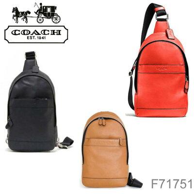 【送料無料】【並行輸入品】『COACH-コーチ-』Campus Pack in Smooth Leather[F71751][メンズ ショルダーバッグ ボディーバッグ]