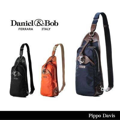 【予約】【送料無料】【Daniel&Bob-ダニエルアンドボブ-】Pippo Davis-ピッポ デイビス- [DAB T108][ナイロンレザー ボディバッグ ショルダーバッグ メンズ]《ご注文後3日前後発送予定》