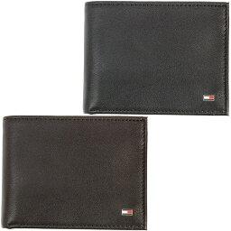 トミーヒルフィガー 二つ折り財布 メンズ トミーヒルフィガー 二つ折り 財布 Tommy Hilfiger メンズ レザー ウォレット パスケース付き 小物 アクセサリー 小銭入れ無し