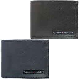 トミーヒルフィガー 二つ折り財布 メンズ トミーヒルフィガー 二つ折り 財布 レザー ウォレット Tommy Hilfiger メンズ パスケース付き 小物 アクセサリー 小銭入れ無し