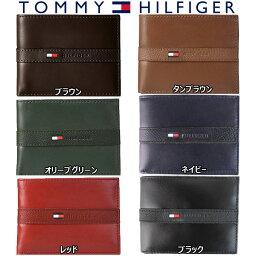 トミーヒルフィガー トミーヒルフィガー Tommy Hilfiger 二つ折り 財布 メンズ レザー ウォレット パスケース付 小物 アクセサリー 小銭入れ無し